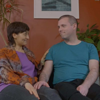 Couple in a therapy session